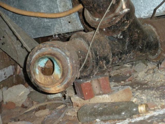 Open Plumbing Drain